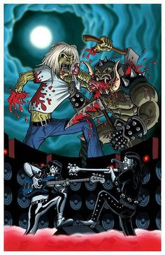 """Eddie"" of Iron Maiden vs Snaggletooth of Motorhead."