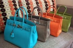 Hermes Handbags...yes I will take all of these.
