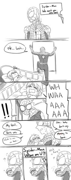 I don't really ship Spideypool but i still think this is cute :)