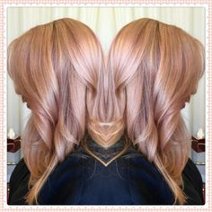 Rose gold by thai - aveda salon irvine, ca pastelowe włosy, fryzura pixie, Rose Gold Blonde, Rose Gold Hair, Balayage Hair Rose, Blonde Hair, Aveda Hair Salon, Gold Hair Colors, Blonde Color, Looks Cool, Fall Hair
