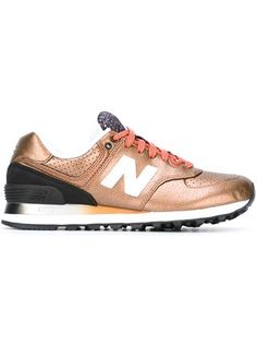 official photos e9e8e 6ad9a New Balance Tênis de couro modelo  574  Metallic Sneakers, Grey Sneakers,  Grey