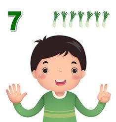 Learn number and counting number two Royalty Free Vector