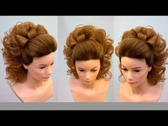 Hairstyle for long hair for wedding. Bridal updo tutorial - YouTube