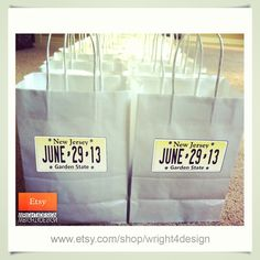 Custom made Wedding Welcome Bags designed and hand printed by wright4design sold on Etsy.com, $3.75 #newjersey #nj #jersey #bride #bridesmaid #grooms #bachelor #bachelorparty #bacheloretteparty #giftbag #2013 #etsy #diy #bachelorette #welcomebag #weddingplanner #gift #bag #customdesign #weddingwelcomebag #diywedding #weddingidea #weddinggift #weddingfavor #etsywedding #destinationwedding #instabride #instawedding http://www.etsy.com/people/wright4design