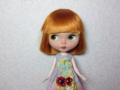 Dress dyeing and embroidery rococó  P O P P I E S