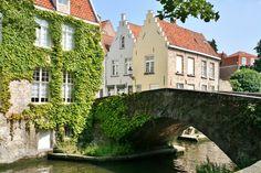 """Bruges, Peerdenbrug (""""horse's bridge""""), Belgium"""