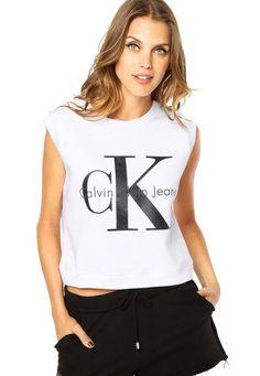 Regata Calvin Klein Jeans Branca - Compre Agora  37cfc638f90