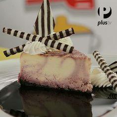 Cheesecake Marmoleado de Chicha Morada