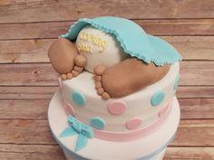 Baby shower gender reveal cake. We love making this cute cake. #genderrevealcake #bespoke #cakeshop #madeonthepremises #babyshowercakes