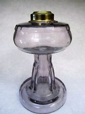 Antique Sun Colored Amethyst Purple Glass - Kerosene / Oil Lamp – VERY NICE