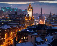Edinburgh, Scotland    Winter dusk over Edinburgh © Copyright Michael Stirling-Aird 2010