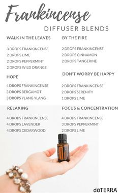 Frankincense Diffuser Blends