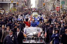 """""""John Glenn and his wife Annie during ticker tape parade held in honor of Glenn and the shuttle Discovery astronauts in 1998."""""""