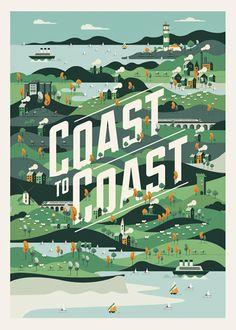 Coast to Coast on Behance