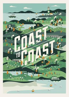 Coast to Coast on Behance