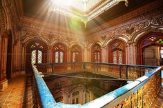 Omar Hayat Mahal in Chinoit, Pakistan, is a 19th century wooden building also known als Gulzar Manzil.