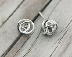 Delicate Rotating Galaxy Cluster  Earring Studs- Handmade Gift Sterling Silver