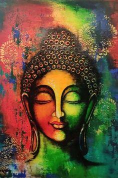 Budha Painting, Kerala Mural Painting, Ganesha Painting, Indian Art Paintings, Modern Art Paintings, Buddha Art, Abstract Line Art, Elephant Art, Cool Art Drawings