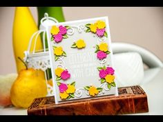Creative Cafe Back to Basics: Colorful A2 Card | Spellbinders