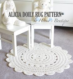 "Ravelry: Alicia Doily Rug ~ 28"" pattern by Henna Huczkowski"