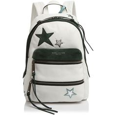 Marc Jacobs Star Patchwork Backpack (443.435 CLP) ❤ liked on Polyvore featuring bags, backpacks, white multi, metallic backpack, leather rucksack, leather bags, marc jacobs knapsack and marc jacobs bags