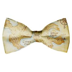 Peter Pan Map of Neverland Bow-Tie