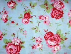 blue vintage floral fabric - Google Search