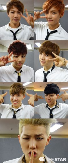 Suga is like: Na too mainstream! Lets do it with the last two fingers. SWAG!