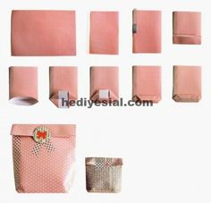 kadozakje van papier maken en sierplakband make a gift bag from paper and decorative tape Diy Gift Bags Paper, Paper Bag Crafts, Diy Gift Box, Diy Box, Paper Gifts, Diy Gifts, Paper Bags, Diy Paper Box, Gift Tags