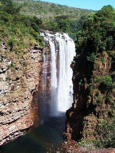 Ahlfeld Waterfall in Noel Kempff Mercado National Park, Bolivia