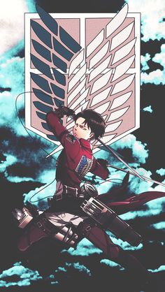 Levi, Eren, and Mikasa - Attack on Titan - Shingeki no Kyojin