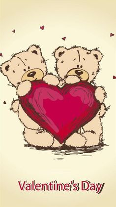 Happy Valentines Day Teddybears #Android #Wallpaper