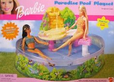 Barbie Paradise Pool Playset w Waterfall Barbie Doll Set, Barbie Sets, Barbie And Ken, Barbie Life, Barbie World, Barbie Movies, Barbie Stuff, American Girl Furniture, Disney Characters Costumes