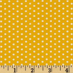 Designed by Studio RK for Robert Kaufman Fabrics, this fabric is perfect for quilting, apparel and home décor accents.  Colors include white on a yellow background.