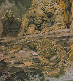 """Concept art for unmade """"The Shadow over Innsmouth"""" movie by Bernie Wrightson"""