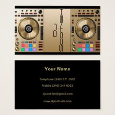 DJ Turntable Business Card