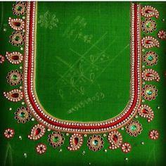 - Salvabrani Hand Work Blouse Design, Simple Blouse Designs, Bridal Blouse Designs, Brocade Blouse Designs, Pattu Saree Blouse Designs, Magam Work Blouses, Hand Embroidery Designs, Aari Embroidery, Mirror Work Blouse