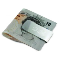 Engraved Silver Plated Money Clip  from www.personalisedweddinggifts.co.uk :: ONLY £9.95