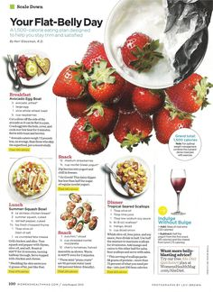 flat belly day | women's health magazine