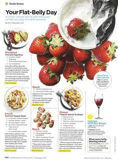 flat belly day | women's health magazine
