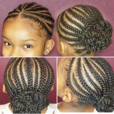 Cornrow Back Ponytail Little Black Girls Braids Little