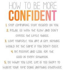 how to be more confident in myself