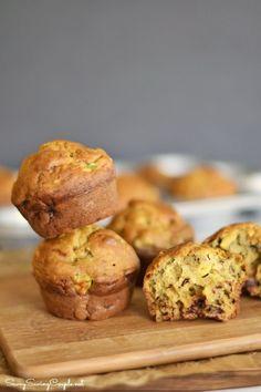 Avocado-banana-muffins-stacked