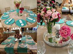 Noiva Esposa Mãe: Decoração Casamento: Azul Tiffany com Fendi - Fernanda Rocco