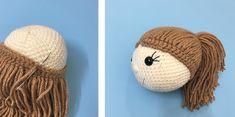 Mesmerizing Crochet an Amigurumi Rabbit Ideas. Lovely Crochet an Amigurumi Rabbit Ideas. Crochet Patterns Amigurumi, Amigurumi Doll, Crochet Dolls, Crochet Eyes, Crochet Baby, Crochet Gratis, Free Crochet, Crochet Hook Set, Doll Hair