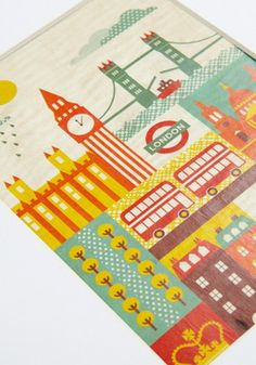 I Wood Leave Tomorrow Print in London, #ModCloth