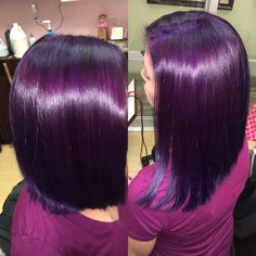 40 Stunning Purple Hair Color Ideas in 2019 40 Stunning Purple Hair Color Ideas in If you're looking for a rocking new hair shade, you should think about these bold dark purple hair color ideas. They're fabulous, flattering, and …, Purple Hair Color Dark Purple Hair Color, Cool Hair Color, Blue Hair, Purple Style, Dark Violet Hair, Ombre Colour, Purple Ombre, Hair Colors, Pelo Color Morado