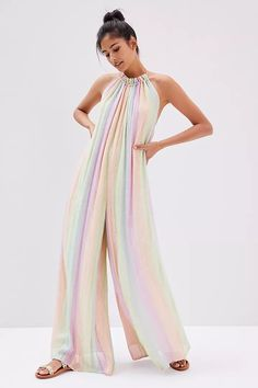 Striped Halter Jumpsuit | Anthropologie Halter Jumpsuit, 50 Fashion, Halter Neck, Anthropologie, Style Inspiration, Legs, My Style, Casual, Pink