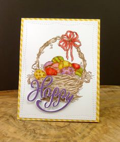Smitten: Serendipity stamps.   50% Off Judy's Easter Basket stamp in February.   Happy Die