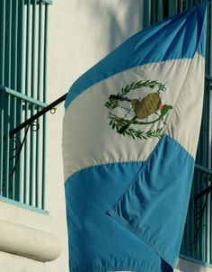 This is the national flag of Guatemala. Guatemala is the most populous country in South America. Guatemala exports lots of bananas, coffee, sugars, and vegetables.